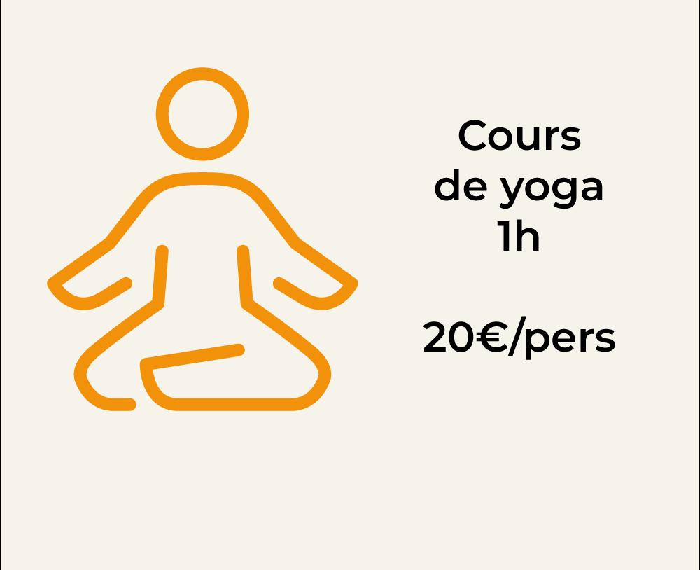 Prix cours de yoga pour la chambre d'hôte